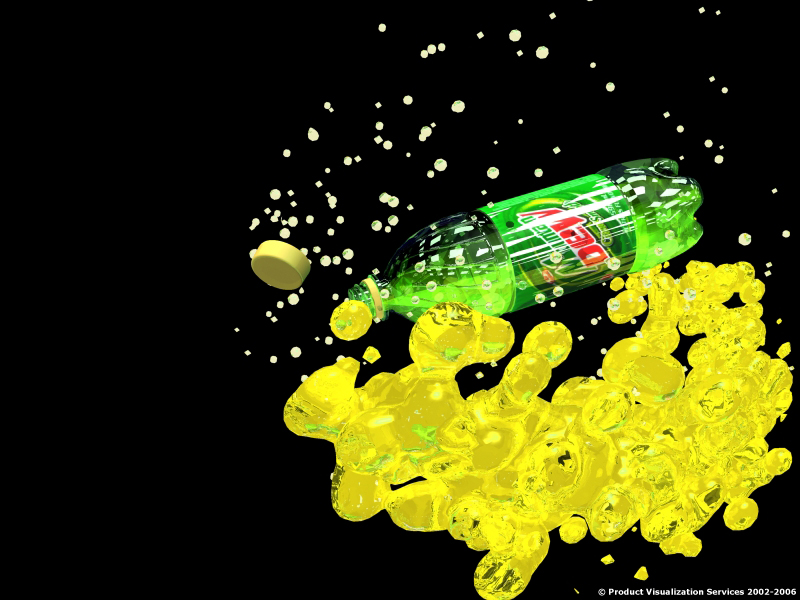 Mountain Dew Liquid Explosion Animation
